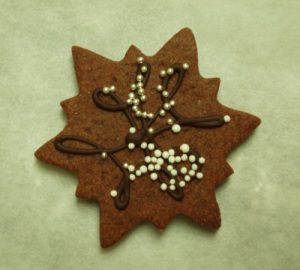An experiment for 2008, these chocolate-chocolate snowflakes are tasty and beautiful!