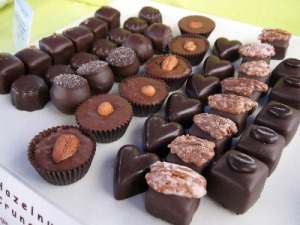 Chocolates from Chocolate Beach at Salt Spring Island market