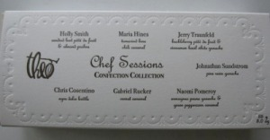 Theo Chef Sessions limited edition confections